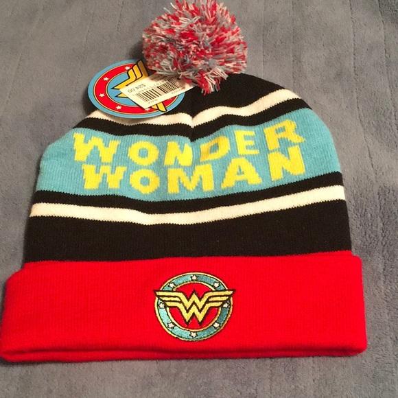 5ac75d37c47 Wonder Woman Pom Pom Hat